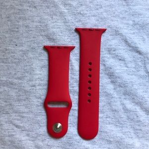 Red Apple Watch watch band